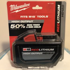 Milwaukee M18 Red Lithium HD 12.0AH Battery for Sale in Haverhill, MA