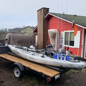 2017 Fishing Kayak & Trailer $3000 for Sale in Kent, WA