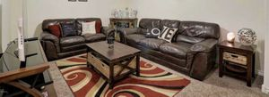 Real leather couch set for Sale in Apache Junction, AZ