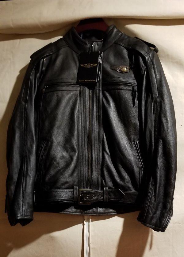 RARE NWT 110th Anniv Harley Davidson leather jacket Men's size XL