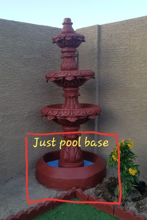 Water Fountain Pool Base for Sale in North Las Vegas, NV