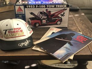 Dale Earnhardt Hat, 2 Star Wars books, Citgo Tow Trucj for Sale in Pittsburgh, PA
