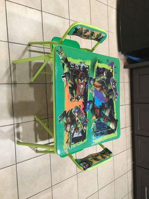 Ninja turtle kid table for Sale in Pasadena, TX