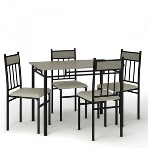 5 Piece Faux Marble Dining Set Table for Sale in Whittier, CA