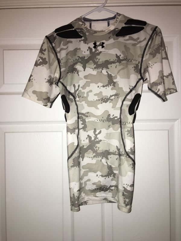 Under Armour Camo Padded Contact Sport Shirt, Small, $10