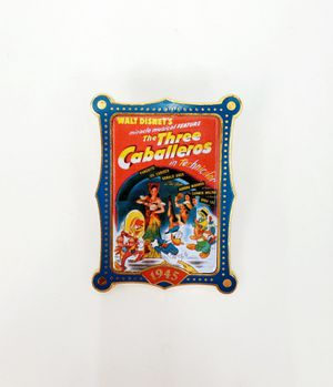 """Walt Disney's Miracle Musical Feature """"The Three Caballeros in Technicolor 1945"""" Trading Pin for Sale in Trenton, NJ"""