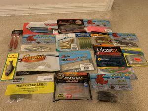 Assorted lot of fishing soft plastics for Sale in Deltona, FL