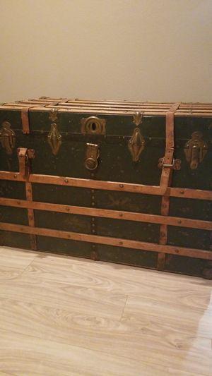 Vintage travel steamer trunk for Sale in Bonney Lake, WA