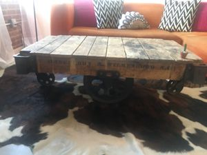 Vintage furniture cart coffee table for Sale in Philadelphia, PA