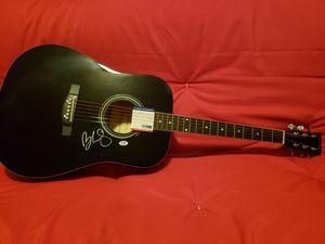 Brad paisley autograph acoustic guitar for Sale in Denver, CO