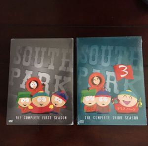 South Park DVD, Seasons 1 and 3 for Sale in Los Angeles, CA