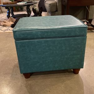 Teal Ottoman With Storage for Sale in Austin, TX