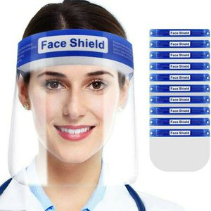 Face Shield for Protection with Glasses Reusable Clear Mask 10 PCS Anti-Fog No Installation Required with Comfortable Sponge and Elastic Band for Wome for Sale in Los Angeles, CA