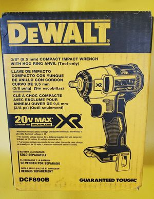 Dewalt 20v max xr brushless 3/8 impact wrench impacto 20 voltios for Sale in Los Angeles, CA