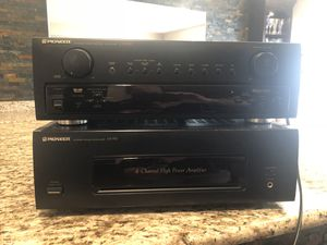 Receiver and amp create a awesome tv audio system for Sale in Perry Hall, MD