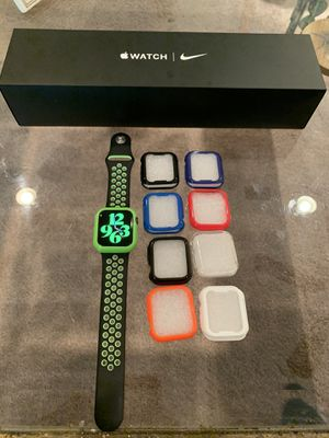 Brand New Open Box Apple Iwatch 5 40mm Nike Series Space Gray Aluminum Case ** GPS / Cellular With Screen Protector * 1 year apple warranty active * for Sale in Laurel, MD