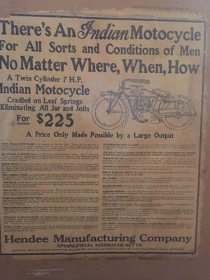 1914 Advertisement for Indian Motorcycle for Sale in Oregon City, OR