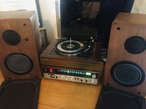 Panasonic Vintage Stereo Component System - SS-7100 Receiver, Model 500 Turntable & Phase Tech PC-65 Speakers!!!! for Sale in Englewood, CO