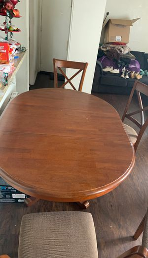 Kitchen table zize gets bigger 4 chairs for Sale in Riverside, CA