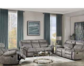 New Gray Recliner Couch , Loveseat and Chair Only $50 Down Payment for Sale in Torrance,  CA