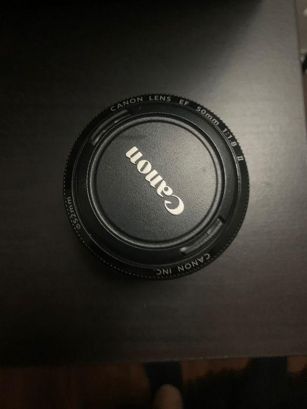 Canon 50mm 1.8 ii w/ UV filter