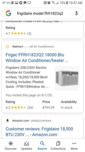 Frigidaire window AC /heater for Sale in Virginia Beach, VA