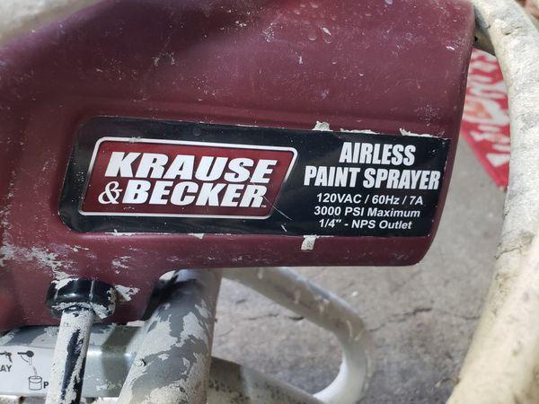 Krause & Becker airless paint machine