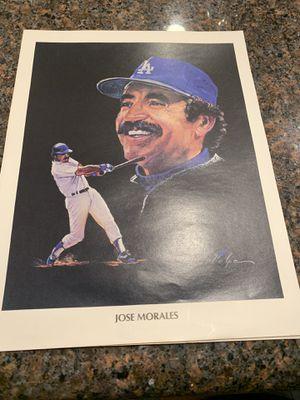 Vintage union 76 photo of dodgers Jose morales for Sale in Yorba Linda, CA