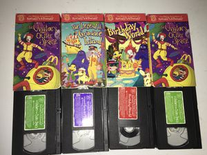 ULTRA RARE MCDONALDS CARTOON VHS TAPES for Sale in Raleigh, NC