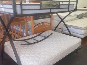 BUNK BED WITH MATTRESS 🎈🎈🎈CAMAS DE VENTA for Sale in Denver,  CO