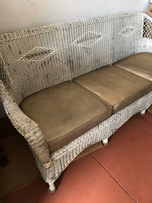 Antique Wicker Patio Furniture for Sale in Greenville, SC