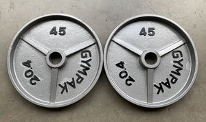 "Gympak Olympic Weights 2x45lbs Workout 90lbs Total Set 2"" Diameter for Sale in Happy Valley, OR"