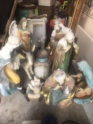Outdoor Nativity Scene poly resin- 8 pieces. New retail $2800 for Sale in Lutz, FL
