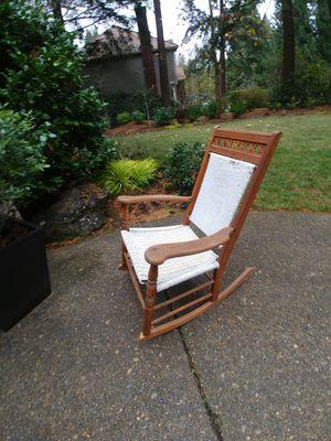 Antique oak wicker rocking chair for Sale in West Linn, OR