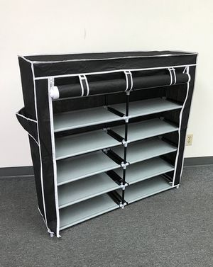 "New $25 each 6-Tiers 36 Shoe Rack Closet Fabric Cover Portable Storage Organizer Cabinet 43x12x43"" for Sale in El Monte, CA"