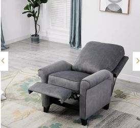 Grey Modern Recliner Chair Heavy Duty Reclining Sofa with Roll Arm (1) for Sale in El Monte,  CA