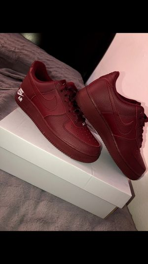 Burgundy air forces for Sale in Rialto, CA
