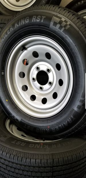 ST205/75R15 TRAILER TIRES AND WHEELS for Sale in Douglasville, GA