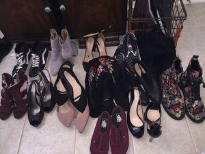 Women's shoes/vans/heels/boots/flats size 10-11 for Sale in San Antonio, TX