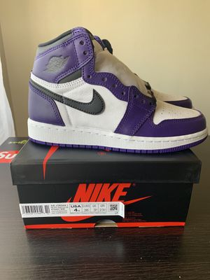 Air Jordan 1 court purple gs size 4y grade school Aj1 retro high purple for Sale in Vernon, CA