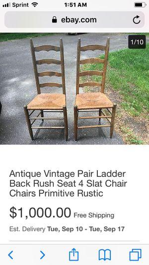 Antique vintage ladder back chair for Sale in Denver, CO