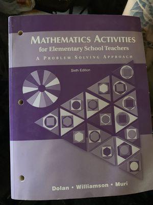 Mathematics activities for elementary school teachers for Sale in Montebello, CA