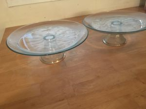 2 glass Cake stands for Sale in Fairfax, VA