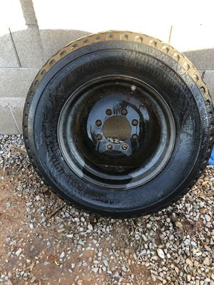 Large Camper trailer rim and tire for Sale in Gilbert, AZ