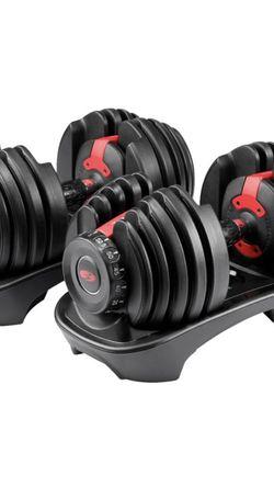 Bowflex - SelectTech 552 Adjustable Dumbbells - Black for Sale in Fresno,  CA