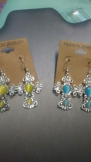 New metal cross earrings for Sale in Yonkers, NY