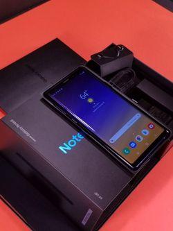 AIRPODS GRATIS El telefono desbloqueado Samsung Nota 9 en Caja con Accesorios funciona perfectamente for Sale in Dallas,  TX