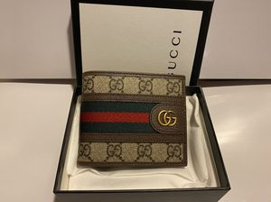 gucci brown monogram men's wallet for Sale in Queens, NY