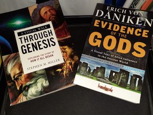 2-Books-A Visual Walk Thru Genesis&Evidence Of The Gods for Sale in St. Louis, MO