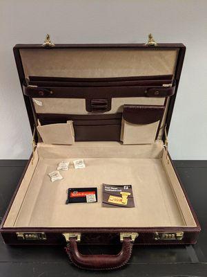 """18"""" x 13"""" leather briefcase, combination lock for Sale in Lincolnia, VA"""